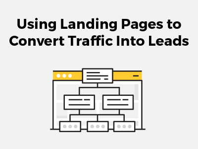 using landing pages to convert traffic into leads